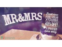 MR&MRS LIGHT UP LETTER HIRE