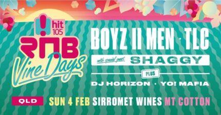 2 x RNB Vinedays tickets - Sirromet 4 Feb