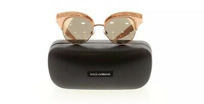 Dolce & Gabbana Sunglasses Sequence Pearl Pink Embellished Mirror Lens Free Ship
