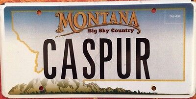 Montana vanity CASPER license plate Friendly Ghost Catoon Fear Goblin Comic Book