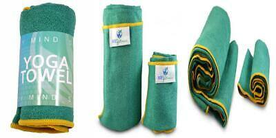 Yoga Mat Towels and Hand - Best Accessory for Towel, Mystic Green