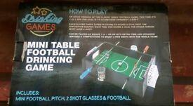 Drinking game. Mini table Football