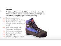 Gorgeous Berghaus Sherpa fabric walking /trekking boots, Italian made, size 7.5 / 41, medium fit