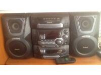Panasonic cd stereo system SC-AK25, 5cd changer,tape decks,tuner,speakers, full instructions