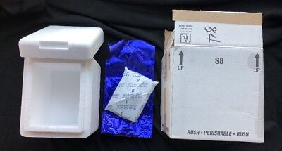 Styrofoam Insulated Shipping Box Cooler Size 11.5 X 11.5 X 8.5 With Ice Pack Euc