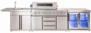 Brand New Outdoor Kitchen/BBQ/Sink/Twin Fridge/Storage/Cabinet. 304 SS