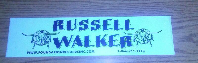 Russell Walker Bumper Sticker foundations records Inc
