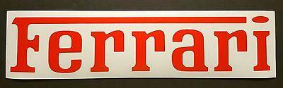 "Red Ferrari DIE CUT Vinyl Sticker Decal, logo. 9"" Wide"