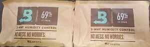 (2) Boveda 69% Packs 2-Way Humidor Control Large 60 gram Sealed Packets