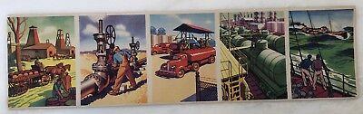 1942 COCA COLA Gas & OIL Education Card Strip Advertising Vintage Original
