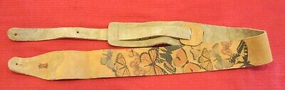 Vintage LEVYS Butterfly Suede Leather Guitar Strap - New plus used Fender Web
