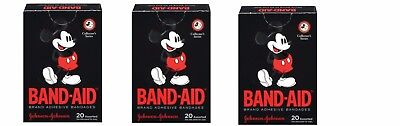 (3 Boxes Mickey Mouse Band-Aids 60 Adhesive Bandages Assorted Collectors Series )