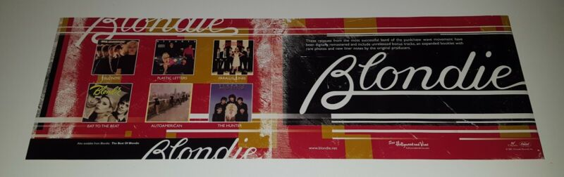 BLONDIE PROMOTIONAL ONLY DOUBLE SIDED  POSTER / BANNER DEBBIE HARRY AUTOAMERICAN