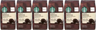 Pack of 6 Starbucks Mocha Flavored Ground Coffee (11 OZ EA) Best Before May 2020