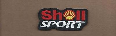 NEW 1 5/8 X 3 5/8 INCH SHELL SPORT IRON ON PATCH FREE SHIPPING