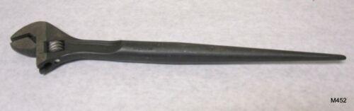 "16"" crescent AT215Spud Adjustable Construction Wrench Black Oxide Finish"