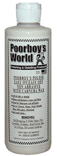 Poorboys World Car Polish With Carnauba Wax White For Light Paintwork 473ml