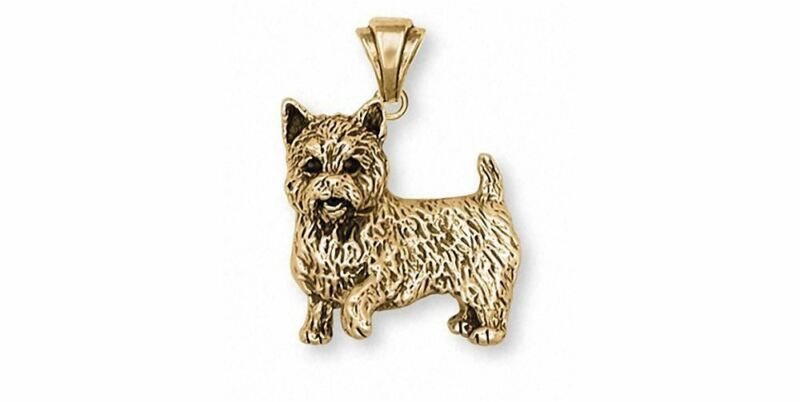 Norwich Terrier Pendant Jewelry 14k Gold Handmade Dog Pendant NT1-PG