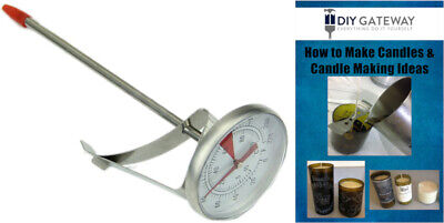 Candle Making Thermometer with Clip: Easier to Read Temperature Gauge- 0-220 F
