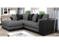** SPECIAL OFFER ** Dylan Chenille Fabric corner / 3+2 Seater sofa set - same day delivery