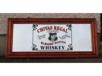 huge original Chivas Regal scotch whiskey mirrow OVER 4 FOOT long