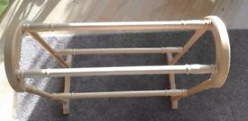Pine Towel Rail - Freestanding, VGC