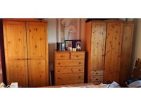 TWO WARDROBES, 2-DOORS + 3-DOORS,