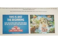4 Chessington tickets