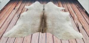 Tan cowhide rug Brazilian Dark Grey Peau De Vache Free Shipping 72 X 72 Inches 1414