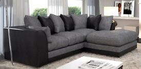 *BRAND NEW BYRON JUMBO CORD FABRIC CORNER SOFA - 2 COLOURS AVAILABLE