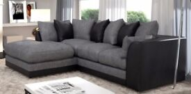 New Byron Left / Right Hand Corner Sofa In Brown Colour, New Fabric Corner Sofa
