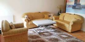 3 piece Sofa set - 3 + 2 (with storage) + armchair. Full working Condition / Collection Only.