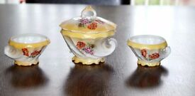 Stunning and Unusual China Dressing Table Set