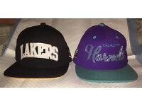 Official NBA Snapbacks by Mitchnell & Ness - Lakers/Hornets
