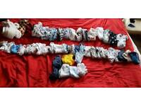 48 items newborn baby clothes bundle