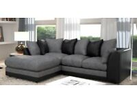 Dianer CORD CORNER 3 + 2 SOFA SUITE SETTEE IN FABRIC