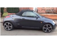 Want a cheap soft top for the summer ? Ford Streetka 2004 Grey Metallic/black heated leather. £700