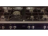 Charocal Grey Dual Fuel Range cooker