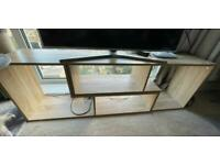 Wooden stand storage unit