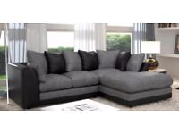 💖Best Buy AT Low Budget💖Upto 80% Off💖Brand New Byron Jumbo Cord Corner Or 3+2 Seater Leather Sofa