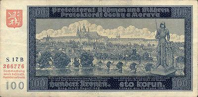 Ro.560a Böhmen & Mähren 100 Kronen 1940 (3)