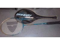 BADMINTON RACKET / RACQUET WITH COVER -DONNAY PRO KEVLAR. LIGHTLY USED. COLLECTION REDDITCH B98.