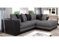 ***WHOLESALE PRICE OFFER***BRAND NEW LARGE CORNER SOFA CHENILLE FABRIC-BLACK & GREY & BROWN & BEIGE