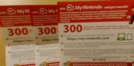 1200 unused My Nintendo points *****snes nes classic mini switch