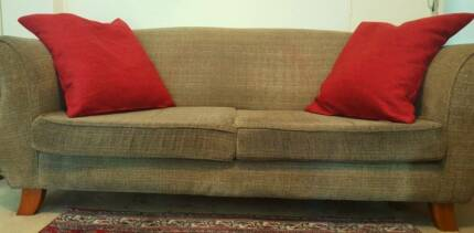 SOFA - 2.5 SEATER FABRIC SOFA - BARGAIN