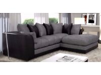 ❋❋ FLAT 70% DISCOUNTED OFFER ❋❋ BRAND NEW ❋❋ JUMBO CORD BYRON CORNER / 3+2 SOFA SET -GET IT TODAY