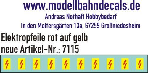 10 Gauge 1 Elektropfeile 0 9/32x0 5/32in Red On Yellow Sign 032-7115