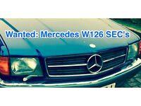 Wanted: your Mercedes W126 SEC, R107 SL, 300 420 500 560 SEC SL
