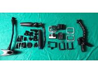 Go Pro Hero 4 w/ Go Pro Remote, 3 batteries and various accessories. Great condition - rarely used.