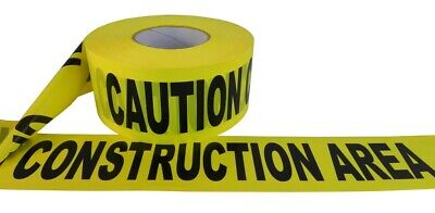 Wod Barricade Tape - 3 Inch - Yellow W Black Text Caution Construction Area